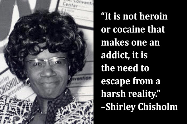 addiction recovery ebulletin chisholm quote