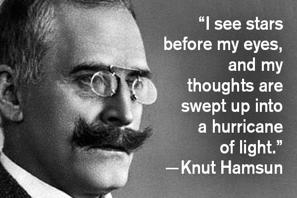 addiction recovery ebulletin quote knut hamsun
