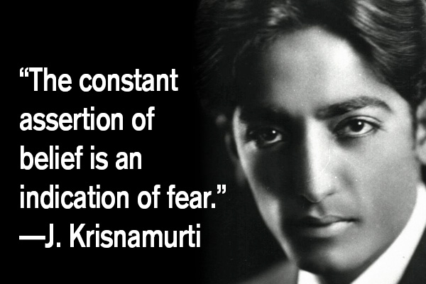 addiction recovery ebulletin quote j Krishnamurti